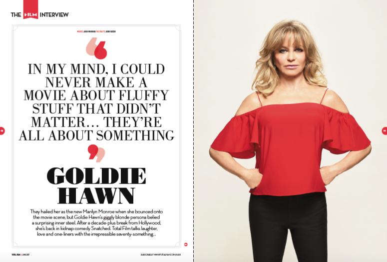Goldie Hawn spread